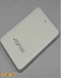 شاحن محمول ASPOR - حجم 4600mAh - لون ابيض - Dream Smart Slim