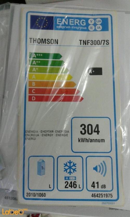 مواصفات فريزر THOMSON سعة 246 لتر فضي TNF300/7S