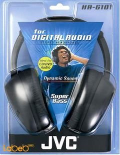 JVC Stereo Headphones - for CD/DVD audio - Black - HA-G101 model