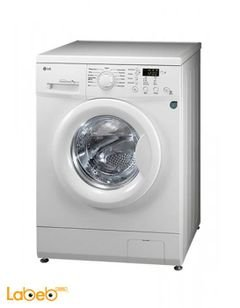 LG Front Load Washing Machine - 7Kg - 1000rpm - White - FH0B8QDP