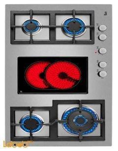Teka gas electric hob - 90 cm - EFX 90 4G 1H AI AL DR