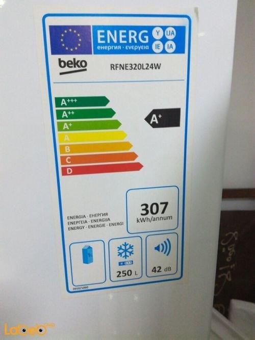 مواصفات فريزر بيكو 250 لتر موديل RFNE320L24W
