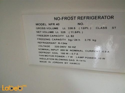 Mistral Refrigerator top freezer NFR 40 model specifications