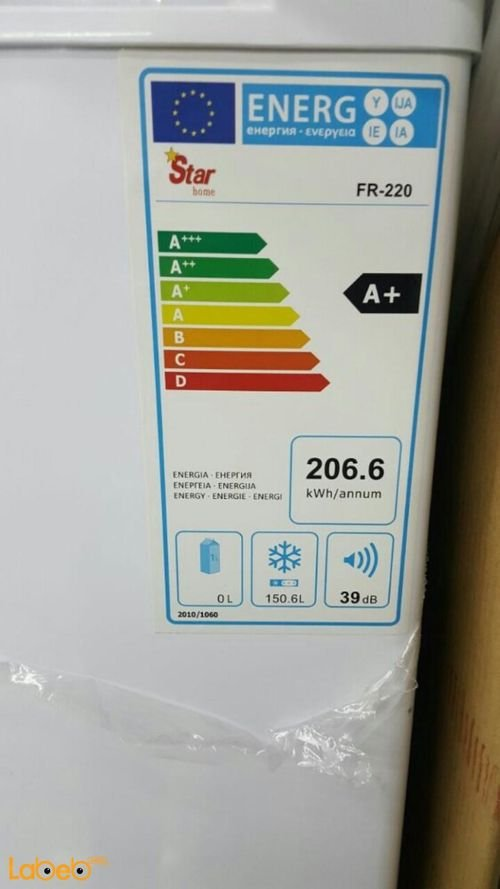 Star home freezer specifications 150.6Liters FR-220