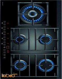 طباخ غاز زجاجي تيكا - 90 سم - CGW LUX 90 TC 5G AI AL DR CI