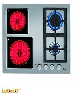 طباخ غاز وكهرباء تيكا - 60 سم - اربعة عيون - EFX 60 2G 2H