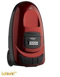 مكنسة كهربائية هيتاشي - 2000 واط - احمر - CV-W2000