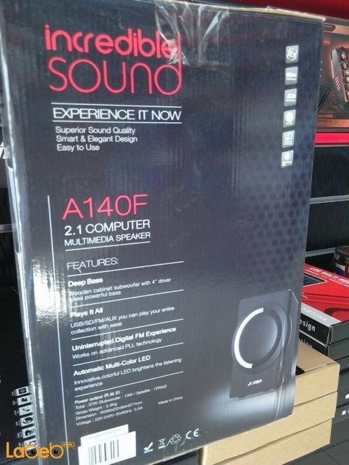 F&D 2.1 computer multimedia Speaker A140F specifications