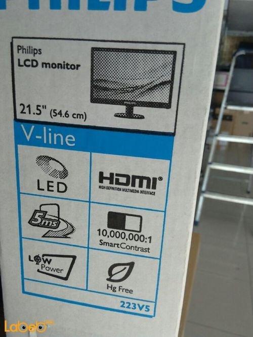 مواصفات شاشة LCD للكمبيوتر فيلبس 223V5L حجم 21.5 انش