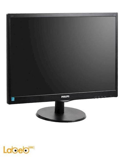 شاشة LCD للكمبيوتر فيلبس 223V5L حجم 21.5 انش اسود