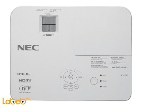 Nec mobile projector 1080p 3000-lumen White v302h model