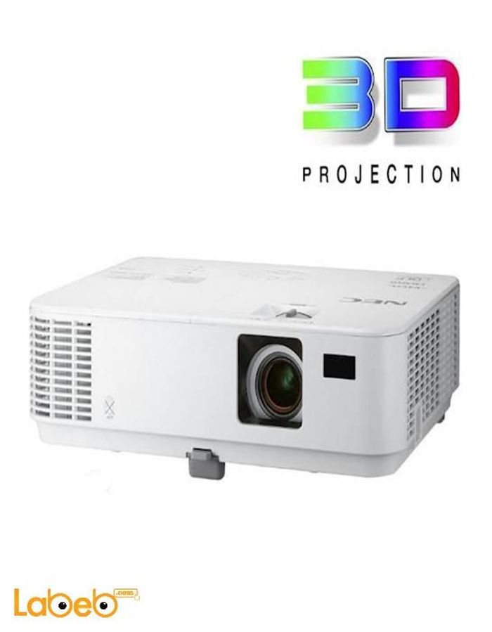 Nec mobile projector, 1080p, 3000-lumen, White, v302h model