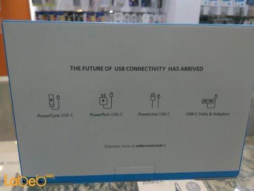 بطارية محمولة انكر للموبايلات والتابلت 20100 ميلي أمبير بالساعة منفذين USB