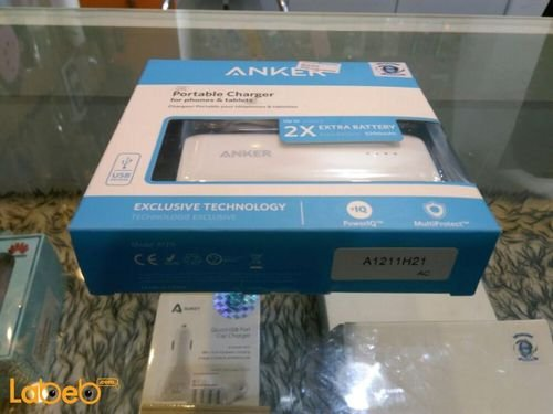 White Anker Portable charger for phones & tablets 5200mAh USB