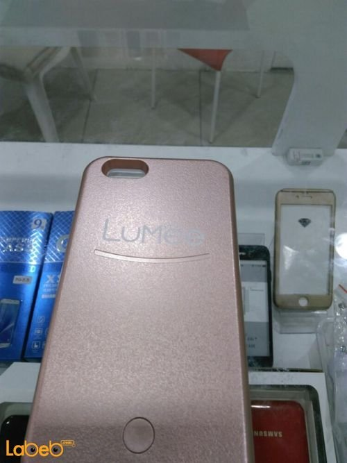 Lumee lighting back cover mobile for iPhone 6plus Pink color