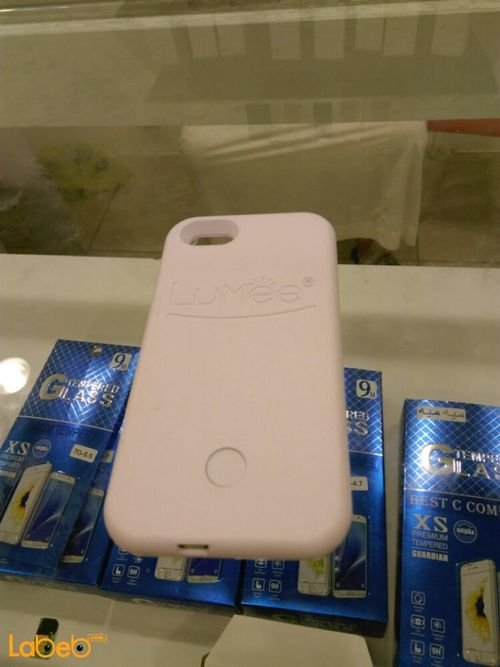 White Lumee lighting back cover mobile for iPhone 5/SE