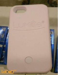 Lumee lighting back cover mobile - for iPhone 5/SE - White color