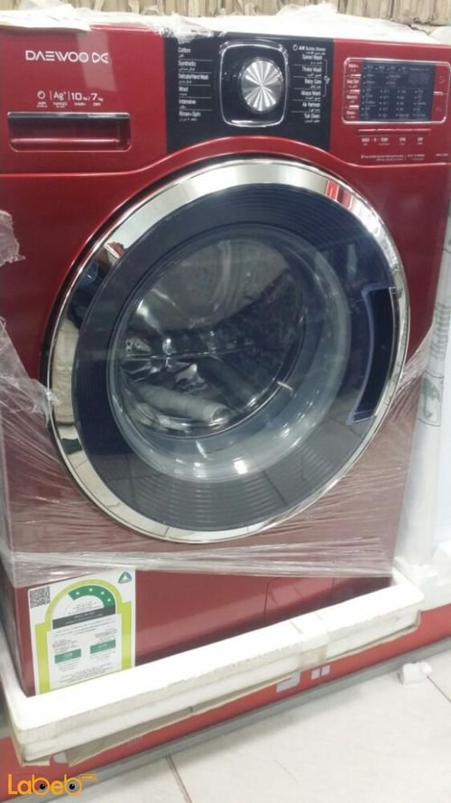 Daewoo Front Load Washer and Dryer  DWC-L123DC 10kg/7kg Red