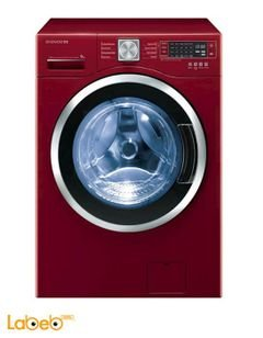 Daewoo Front Load Washer and Dryer - 10kg/7kg - Red - DWC-L123DC