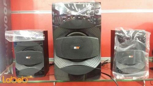 سماعات ومكبر صوت Super bass قدرة 40 واط لون اسود موديل SP835