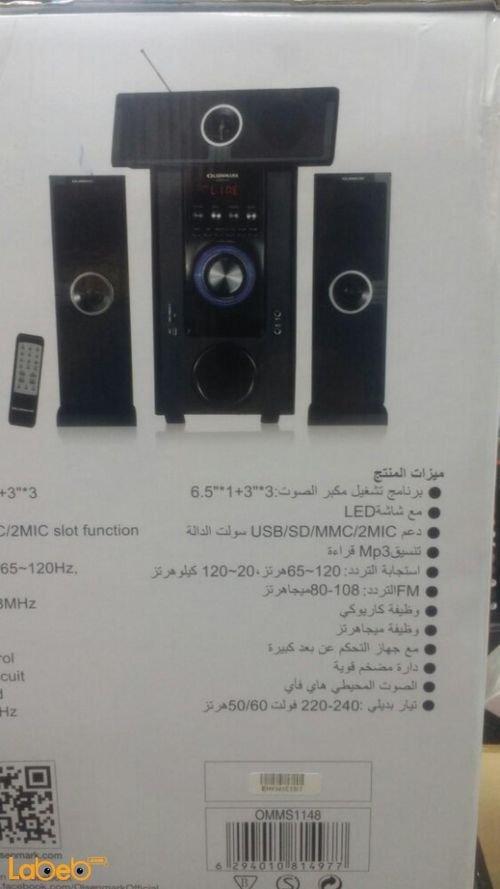Olsenmark 3.1 ch multimedia speaker system OMMS11148 model
