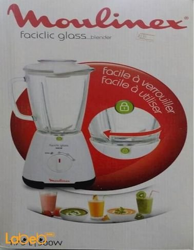 Moulinex faciclic glass blender 1.75L White LM310128