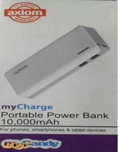 mycharge Mycandy PowerBank - 10000 mAh - Two usb - white color