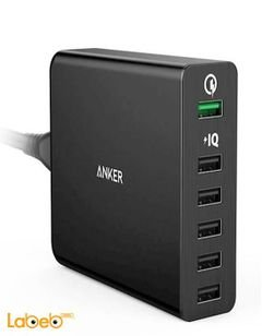 Anker powerport+ 6 - 6 ports USB - Black Color - A2062211