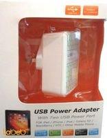 شاحن موبايل 2 منافذ USB الطاقة 110-240 فولت