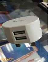 Mili dolphin UK travel charger 2USB ports white color HC-K10