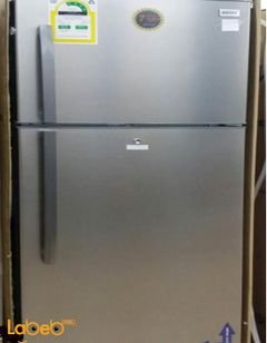 Ugine Refrigerator top freezer - 374L - Stainless - UGRSN520