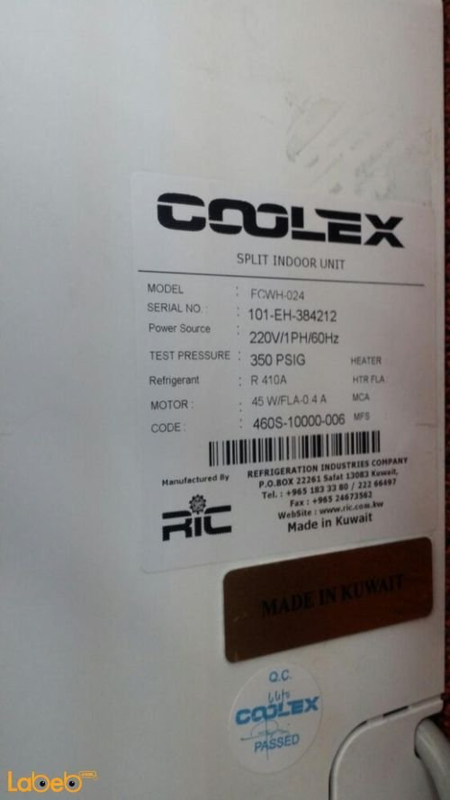 Coolex Split air conditioner 2Ton FCWH-024