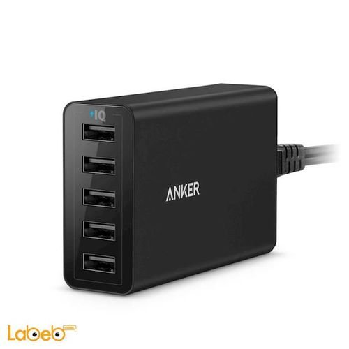 Anker power portable 40W 5 USB Ports Black