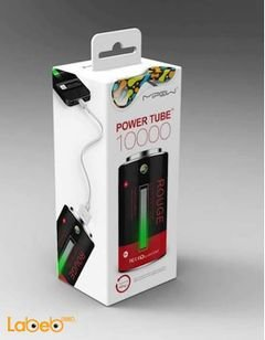Mipow power tube - 10400mAh - Dual USB Ports - Black & Red