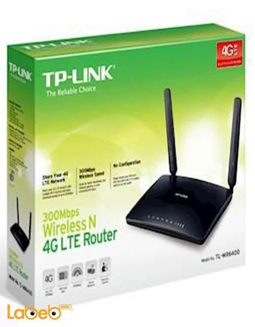 TP-link Wireless N 4G LTE Router box 300Mbps Black TL-MR6400