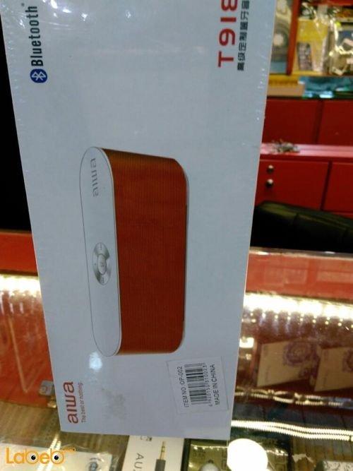 Red Aiwa wireless Bluetooth speaker T918