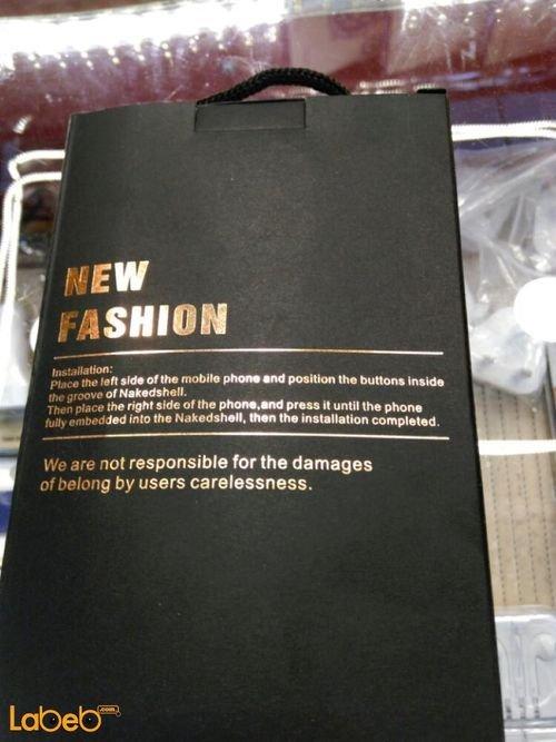 غطاء حماية new fashion لموبايل ايفون 7 مع فراشة فضية
