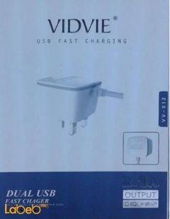 شاحن Vidvie - منفذين يو اس بي - أبيض - موديل VV-012