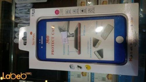 غطاء مطاطي للموبايل لموبايل ايفون 7 بلس لون أزرق