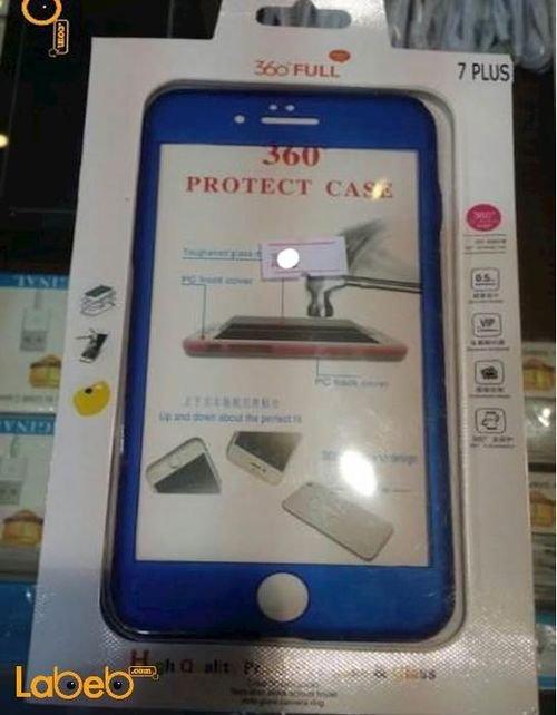 غطاء مطاطي للموبايل مناسب لموبايل ايفون 7 بلس لون أزرق