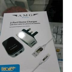 Anker home charger & cable - phones & tablets - 2xUSB - A214002