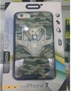 Icon flang mobile back cover - for iPhone 7 - With lion picture
