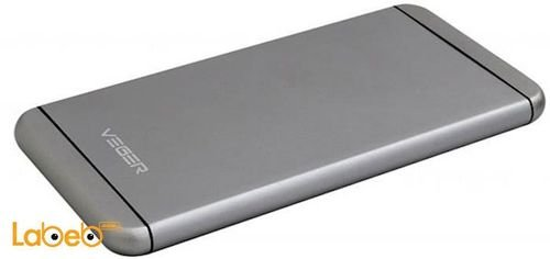Veger power bank V55 model 10000mAh Silver color
