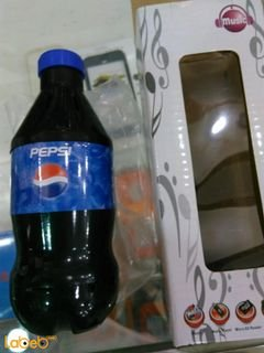 Music stereo - Pepsi bottle design - FM Radio - Micro SD reader
