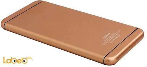 Veger power bank V55 model 10000mAh Gold color