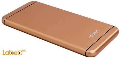 Veger power bank V55 10000mAh Gold color