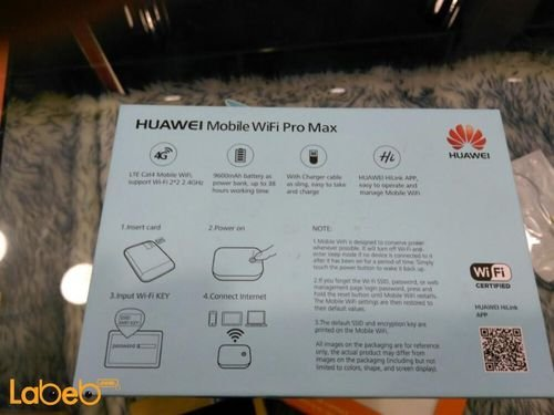 Huawei mobile wifi pro specifications 9600mAh Gold E5771H -937