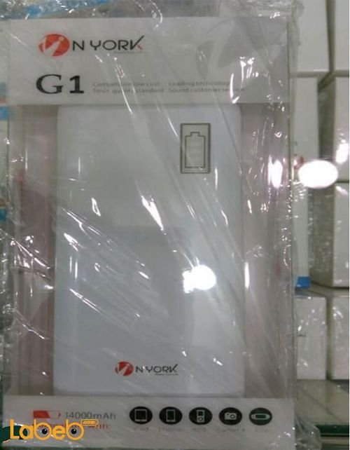 Nyork Power bank 14000mAh White color G1 model