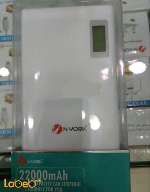 Nyork Power bank 22000mAh White color NYA6 model