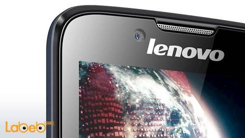 Black Lenovo A328 smartphone camera